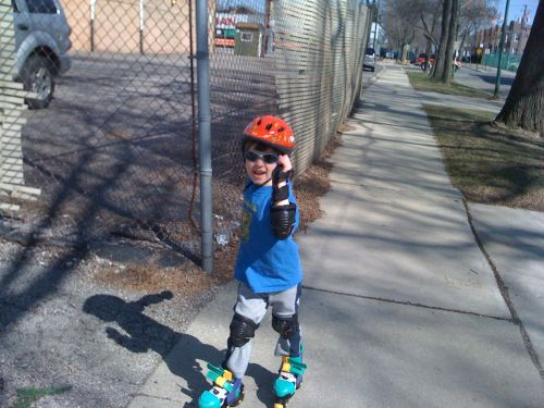 He says he wants to build a jetpack, to go with the skates.